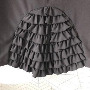 Trina Turk Skirts - 🔥SOLD🔥Trina Turk pencil skirt black ruffles